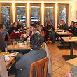 Au premier étage du café Le Français, place d'Armes, 30 à 40 Français du Luxembourg ont pris part au premier rendez-vous du Grand Débat.