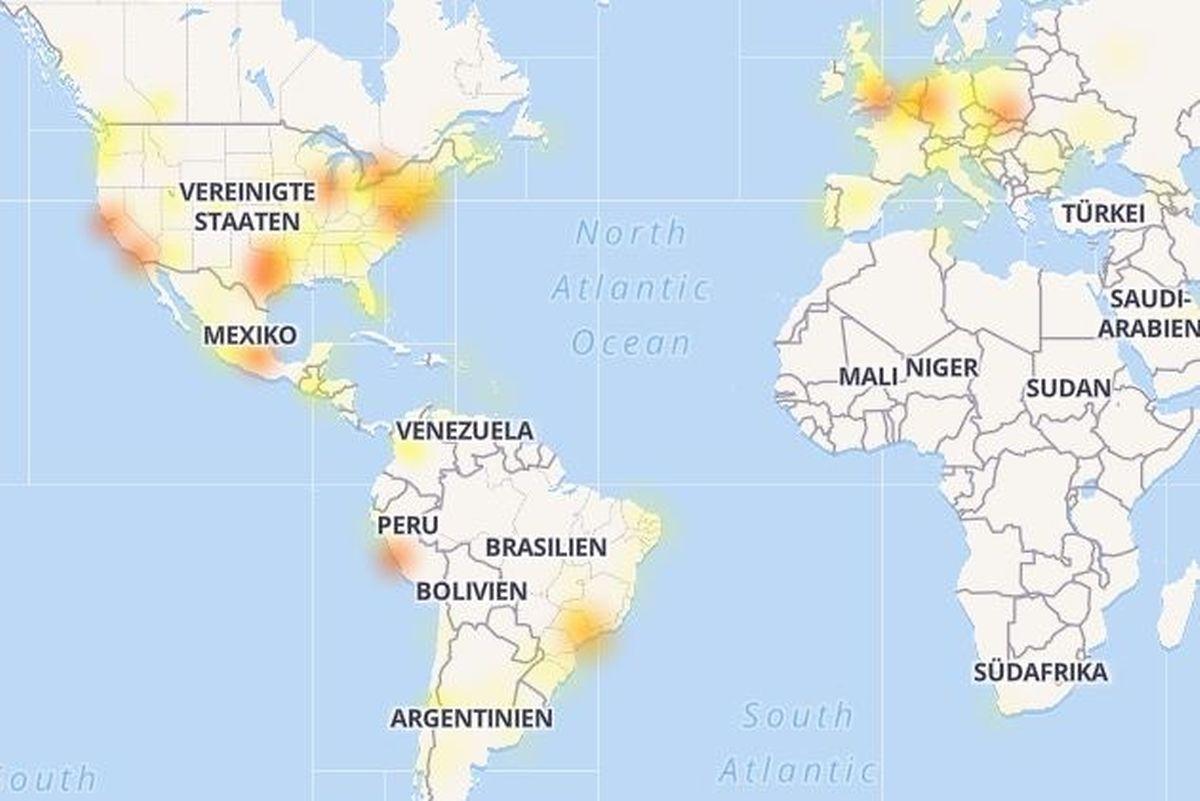 Die Störungen bei Facebook betrafen Nutzer in Nord- und Südamerika sowie in Europa.