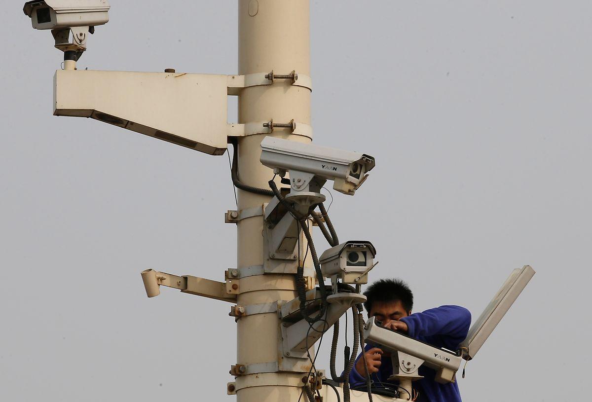 In China gibt es 200 Millionen Sicherheitskameras.