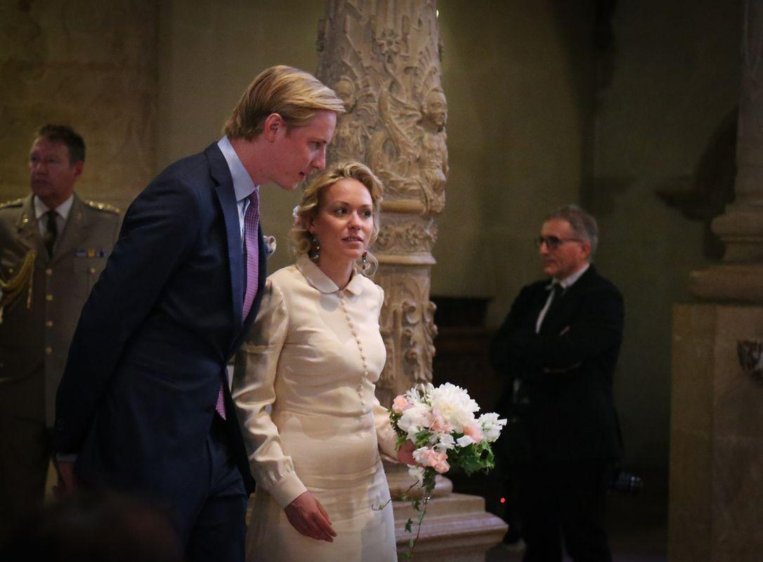 Fast unbemerkt von den Oktavepilgern: Prinzessin Marie-Gabrielle von Nassau und Antonius Willms.