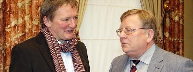 Edy Mertens (r.), hier mit dem Wiltzer Bürgermeister und LSAP-Abgeordneten Frank Arndt, sitzt seit 2013 als DP-Abgeordneter in der Chamber.