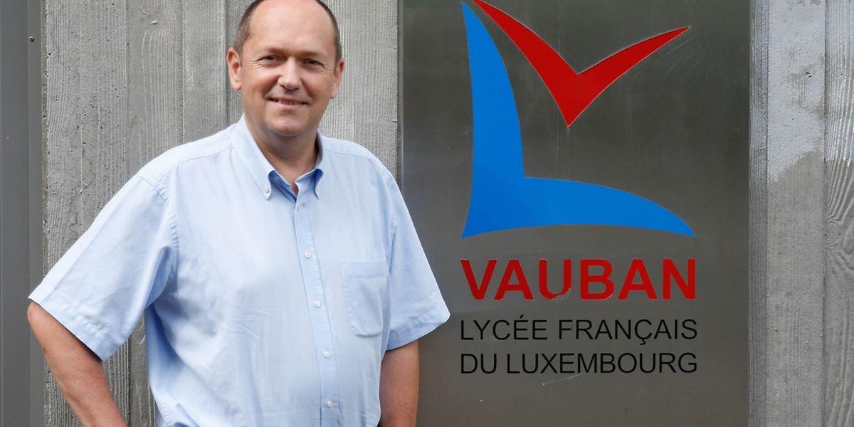 Le proviseur de Vauban, fort d'une expérience de 18 ans dans la direction d'établissements scolaires va faire partie de l'équipe du plan de développement scolaire dans le cadre de la réforme du lycée au Luxembourg. .