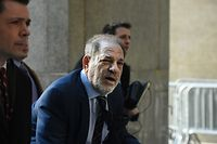 NEW YORK, NY - FEBRUARY 14: Movie producer Harvey Weinstein arrives for his sexual assault trial at New York Criminal Court on February 14, 2020 in New York City. The weeks-long trial against Weinstein nears the end with the prosecution making closing arguments in today's trial.   Stephanie Keith/Getty Images/AFP == FOR NEWSPAPERS, INTERNET, TELCOS & TELEVISION USE ONLY ==