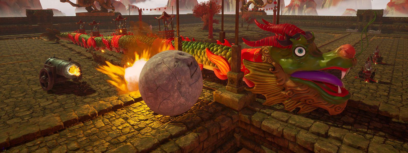 """Spielspaß für zwischendurch - das bieten """"Rock of Ages 3"""" (Screenshot) und vier andere Games mit hohem Funfaktor."""