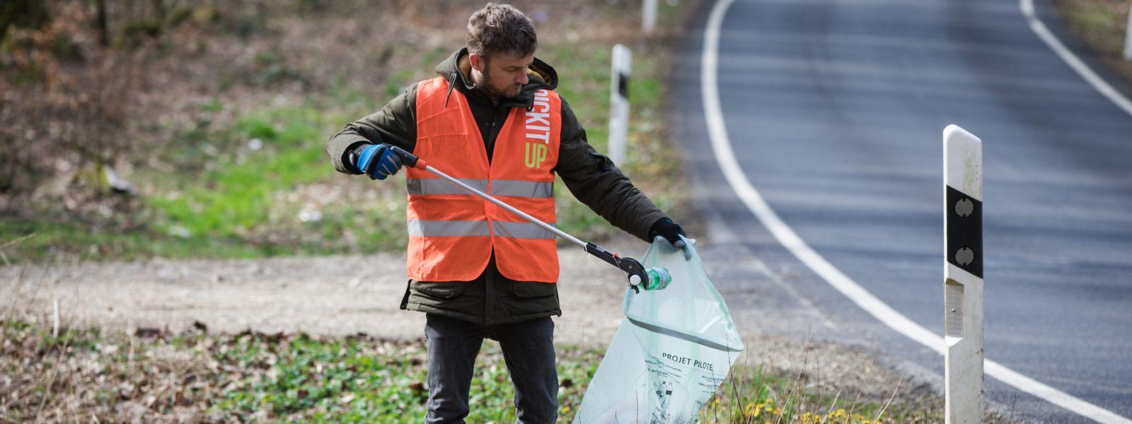 Didier Picard aus Mamer sammelt im März jeden Tag während 30 Minuten Müll ein.