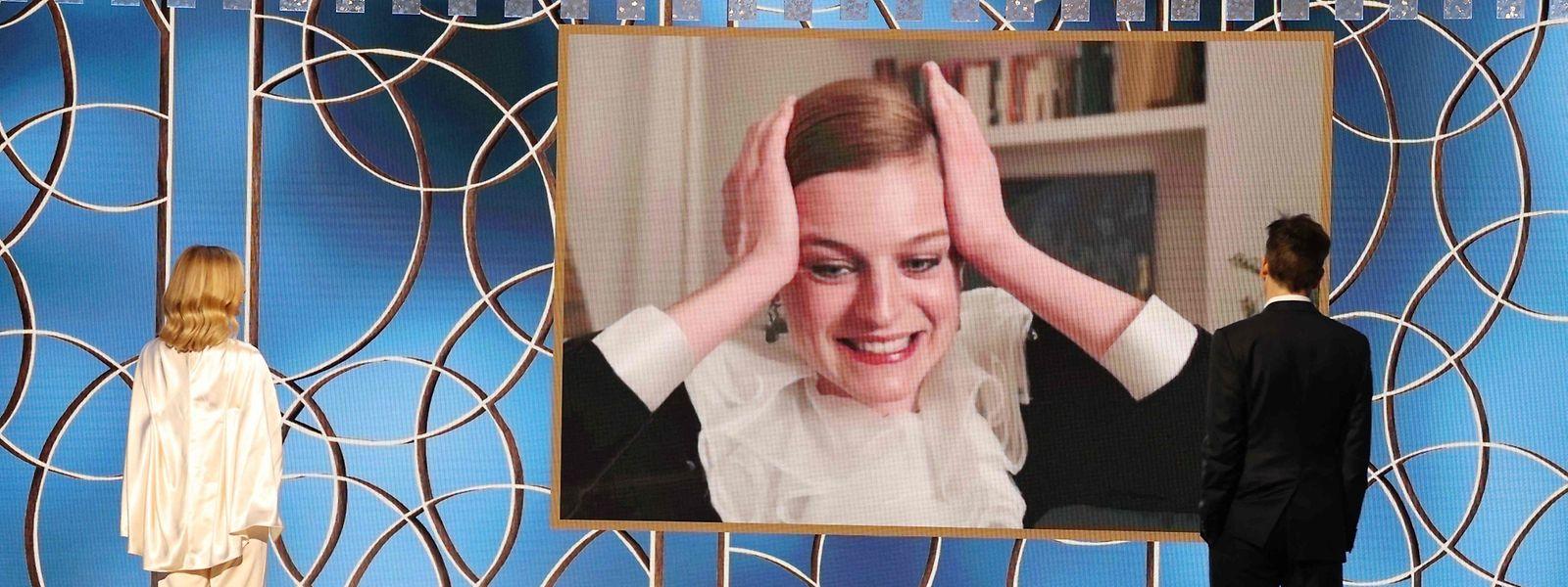 """L'actrice Emma Corrin a été couronnée pour son rôle dans la série """"The Crown""""."""
