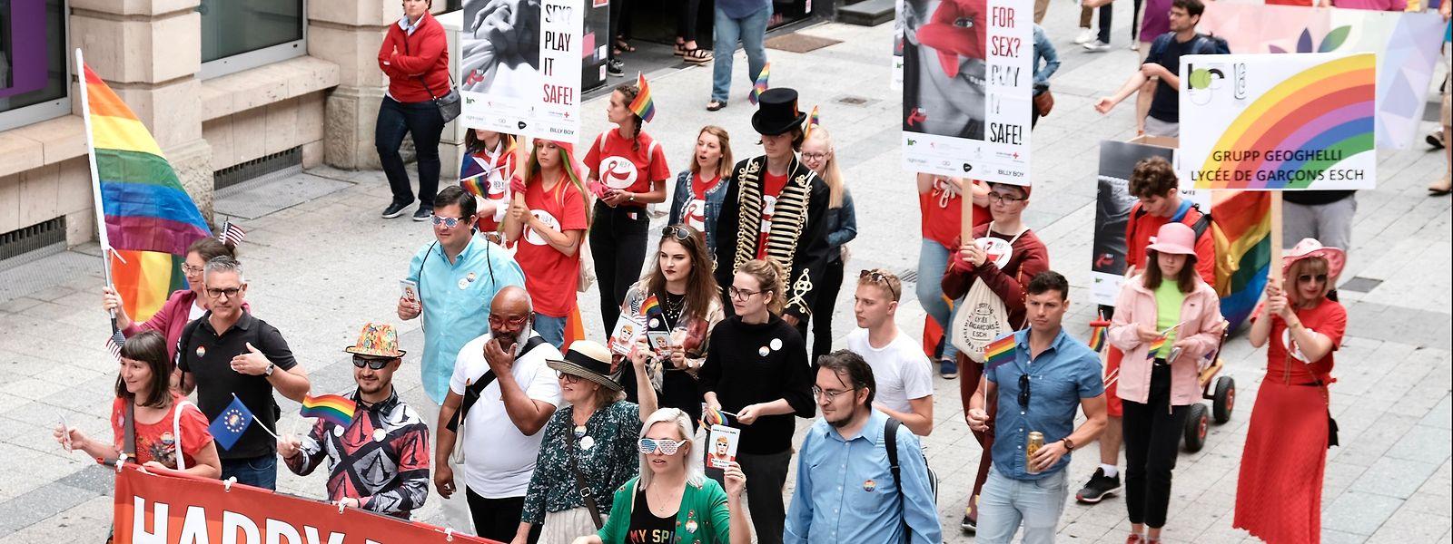 """Am Samstag zog es erneut unzählige Mitglieder der """"GayMat""""-Parade nach Esch/Alzette."""