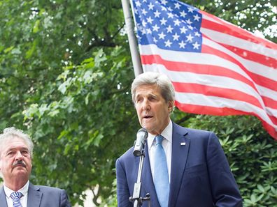 John Kerry (r.), shown here with Luxembourg Minister for Foreign Affairs Jean Asselborn