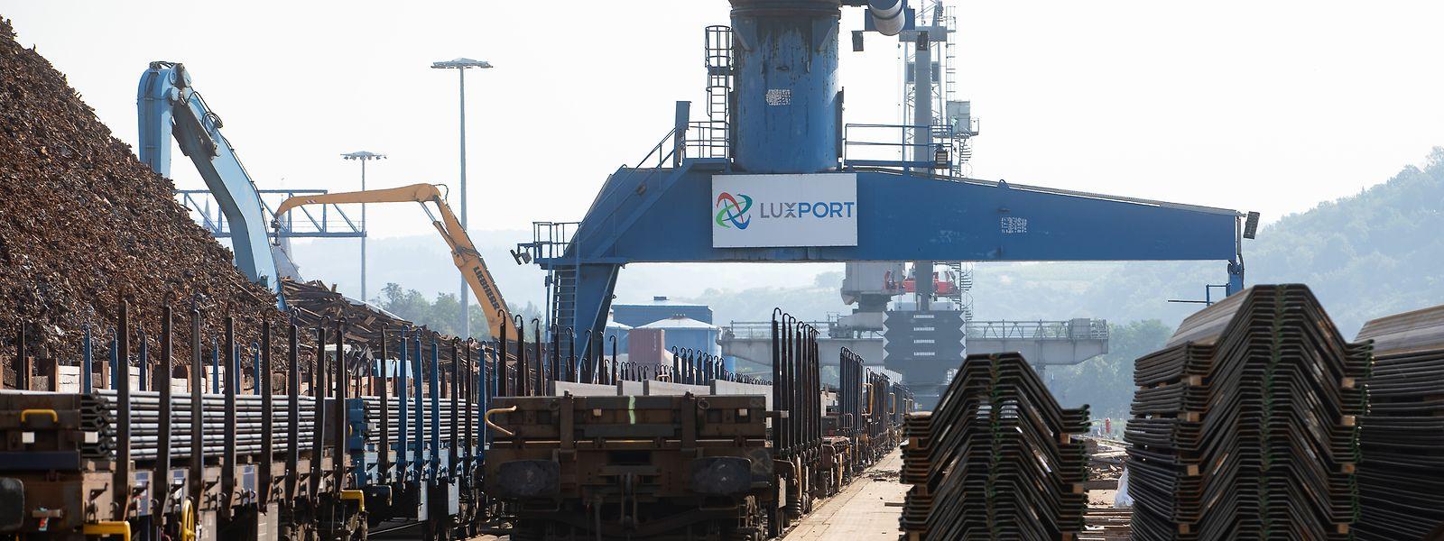 Die Hälfte der Aktivitäten im Binnenhafen Mertert haben mit Stahl zu tun.