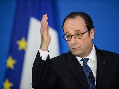 """Der französische Präsident François Hollande erinnert daran, dass """"wir in einer offenen und freien Wirtschaft leben""""."""