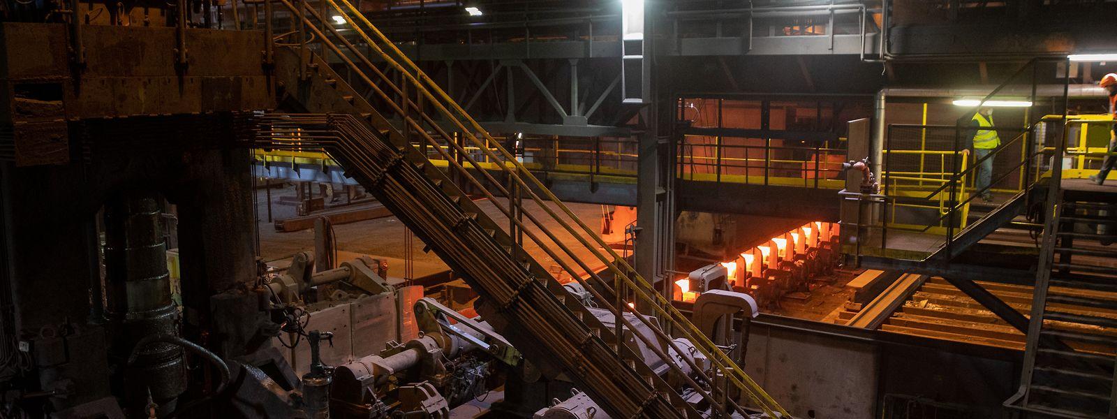 Das Geschäft zieht wieder an: Blick auf die Stahlproduktion in Differdingen.