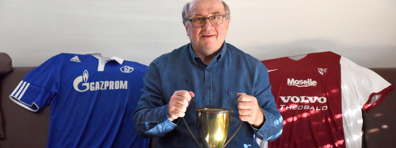 """Nico Braun, der 1973 vom """"Le Républicain Lorrain"""" zum Monsieur Football gekürt wurde, ist nach wie vor ein Fan des FC Metz und des FC Schalke 04."""