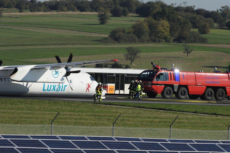 Glimpflich ging die Bauchlandung der Luxair-Propellermaschine am 30. September in Saarbrücken aus.