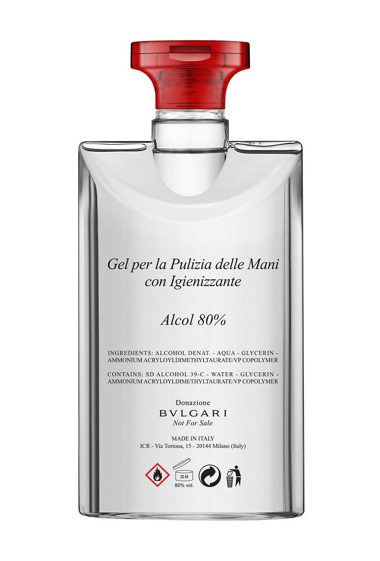 Veränderte Produktion: Bvlgari lässt in Italien Handdesinfektionsmittel statt Parfums abfüllen.