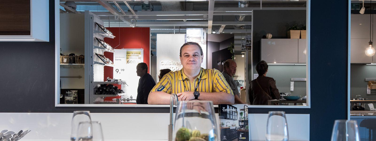 Christophe Adrien, le directeur d'Ikea Sterpenich.