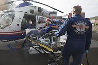 Lokales, Corona-Virus Covid19,  Air Rescue fliegt französischen Patienten zurück nach Colmar, CHDN Ettelbrück, Foto: Guy Wolff/Luxemburger Wort