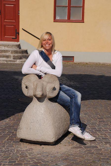 Die Gotlandschafe sind überall auf der Insel zu finden – wenn auch manchmal nur aus Stein gehauen.