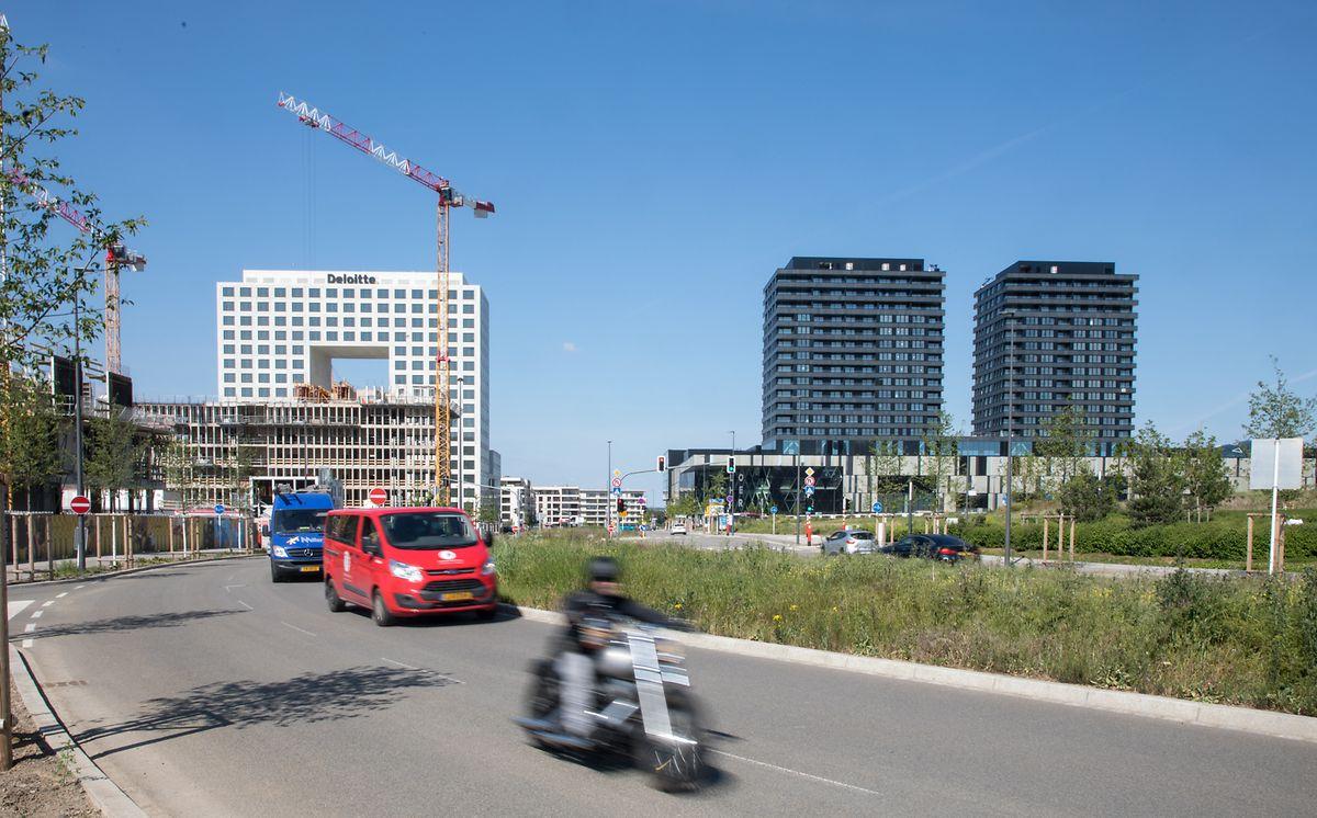 Une vue du boulevard Kockelscheuer.