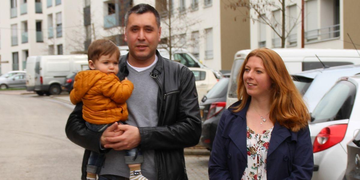 Leonel und seine Eltern.