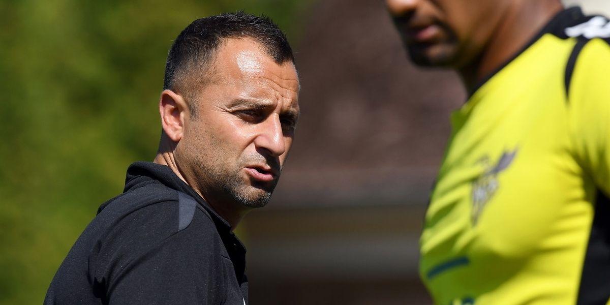 Paulo Amodio a pris un coup sur la tête. Son Progrès a été battu d'entrée à Rumelange.