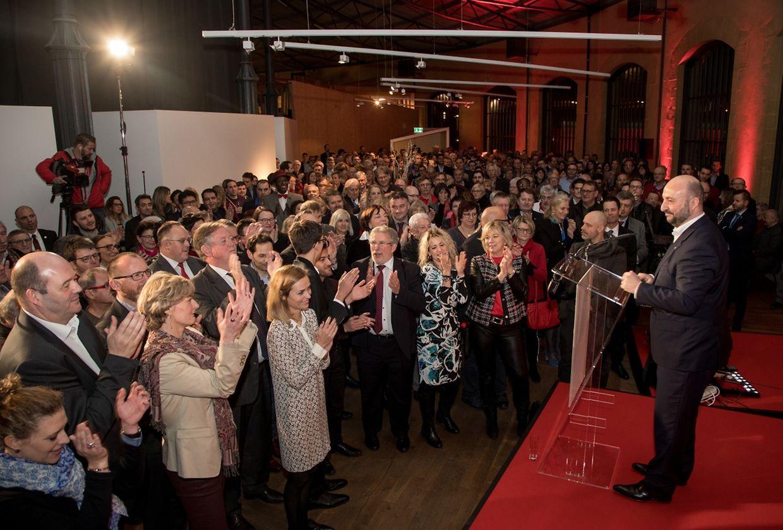 Zahlreiche Mitglieder und Sympathisanten hatten sich am Dienstagabend zum  Neujahrsempfang der LSAP in den Rotondes in Bonneweg eingefunden.