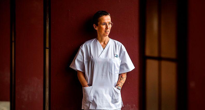 Entrevista com equipa medica proveniente de Franca que veio para Portugal para o Hospital Garcia da Orta, em Almada, ajudar no combate a pandemia COVID-19@Rodrigo Cabrita