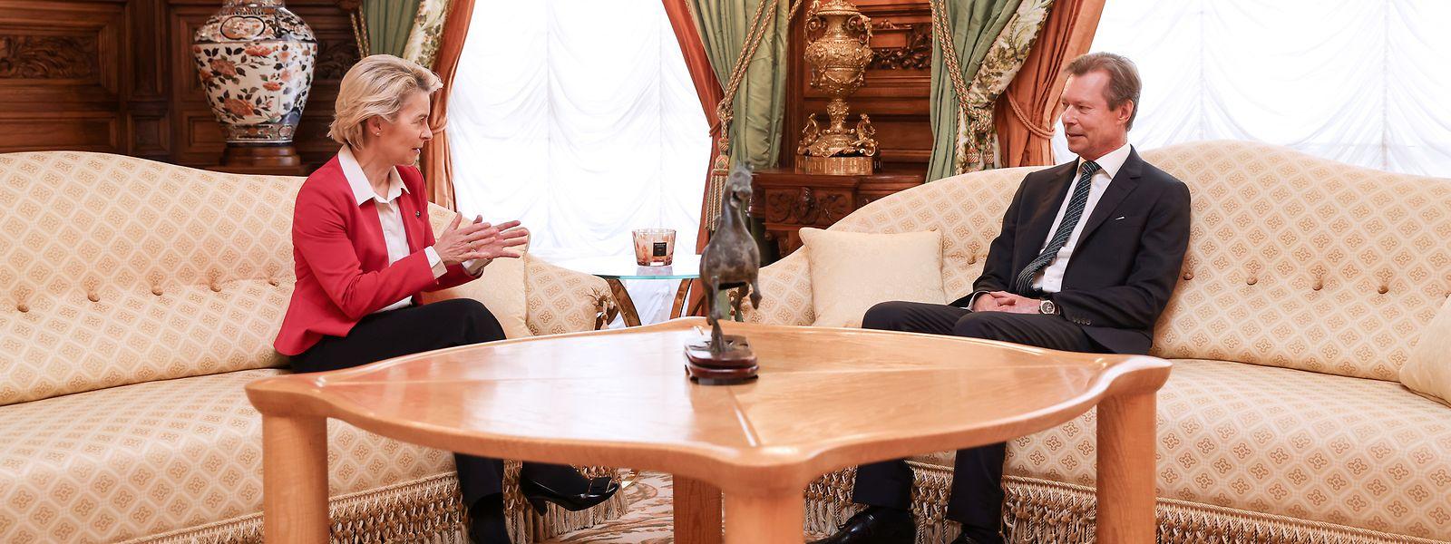Die EU-Kommissionspräsidentin nutzte ihren Besuch in Luxemburg für eine Audienz beim Großherzog.