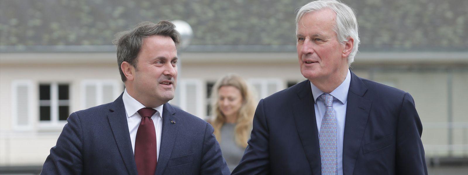 EU-Chefunterhändler Michel Barnier traf sich am Montag mit Premier Xavier Bettel auf Schloss Senningen zu Gesprächen über die künftigen Beziehungen zwischen der EU und Großbritannien.