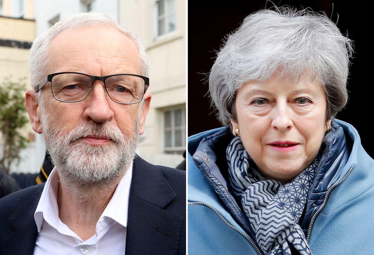 Die britische Premierministerin wird am Dienstagmittag die Gespräche mit Oppositionsführer Jeremy Corbyn wieder aufnehmen.