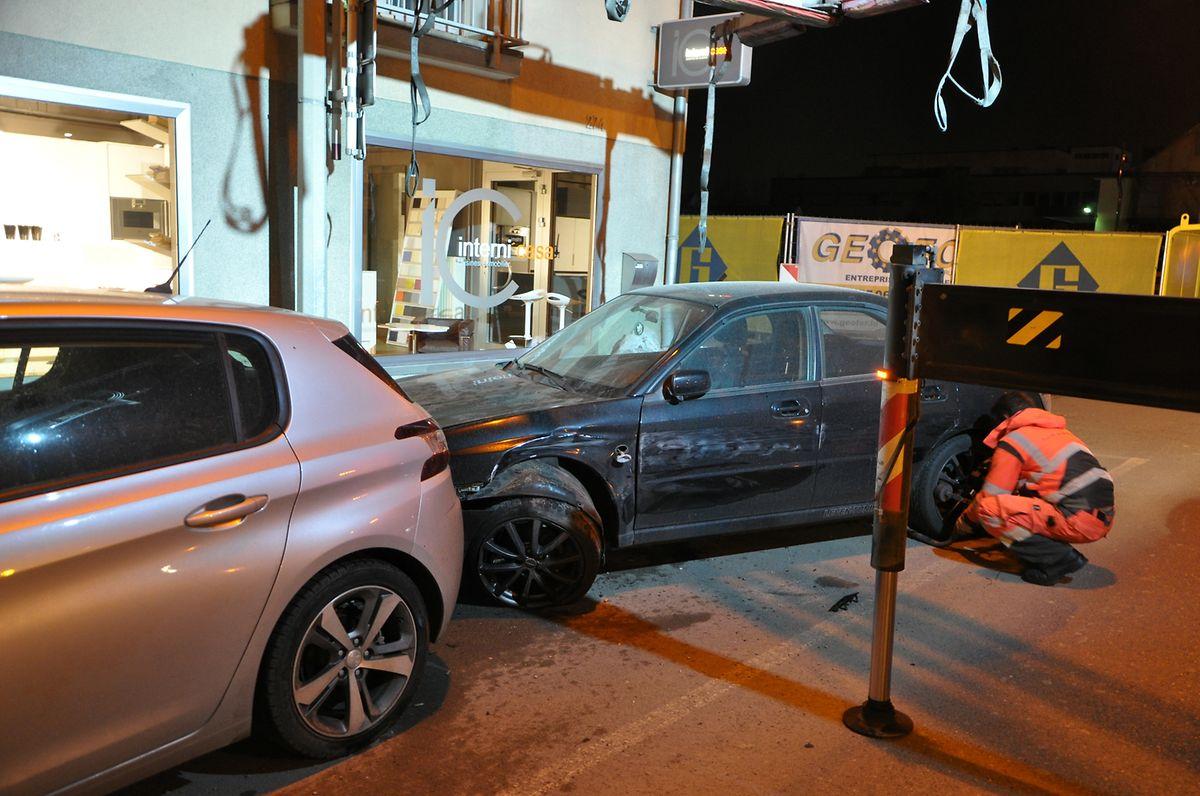 Dans la route d'Esch, la femme a percuté deux voitures