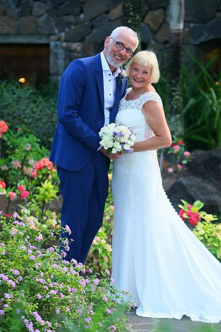 Just married: Sue und Stephen King nach dem Jawort.