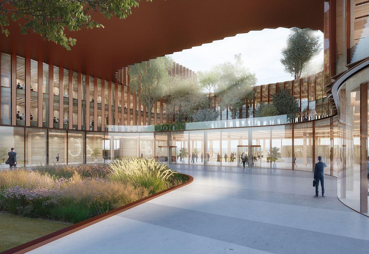Outre les bureaux à plusieurs étages, le nouveau complexe abritera des restaurants et des magasins, ainsi qu'une crèche, un centre de location de voitures et un club de remise en forme