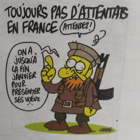 Dieses Bild fertigte der Zeichner Charb kürzlich an. Möglicherweise starb er bei dem Attentat.