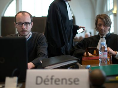 LuxLeaks Prozess, Cite Judiciaire, Antoine Deltour, le 27 Avril 2016. Foto:Chris Karaba