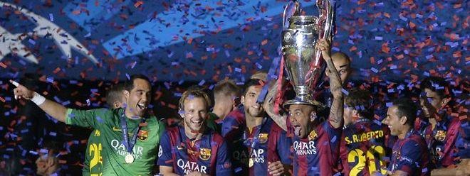 Barcelona feiert das Triplé.