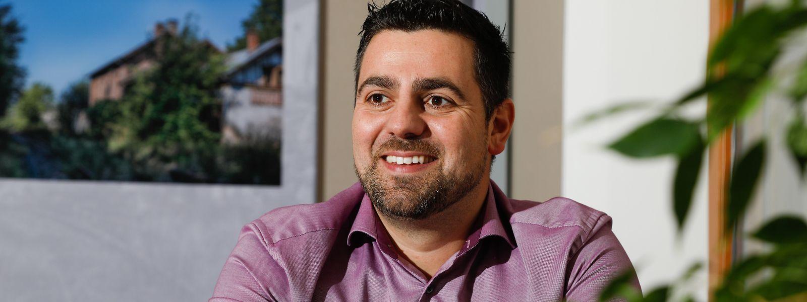 Der 35-jährige David Viaggi, der hauptberuflich in der Mobilitéitszentral arbeitet, ist seit dem 25. Oktober Bürgermeister.