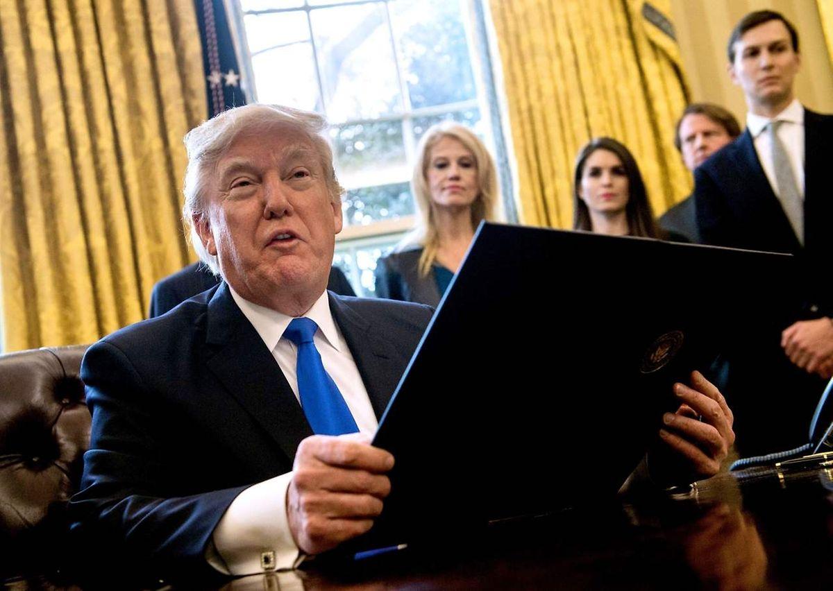 Für Donald Trump hat die Wiederbelebung der Pipeline-Baustellen Priorität.