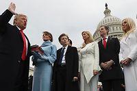Donald Trump bei seiner Amtseinführung.