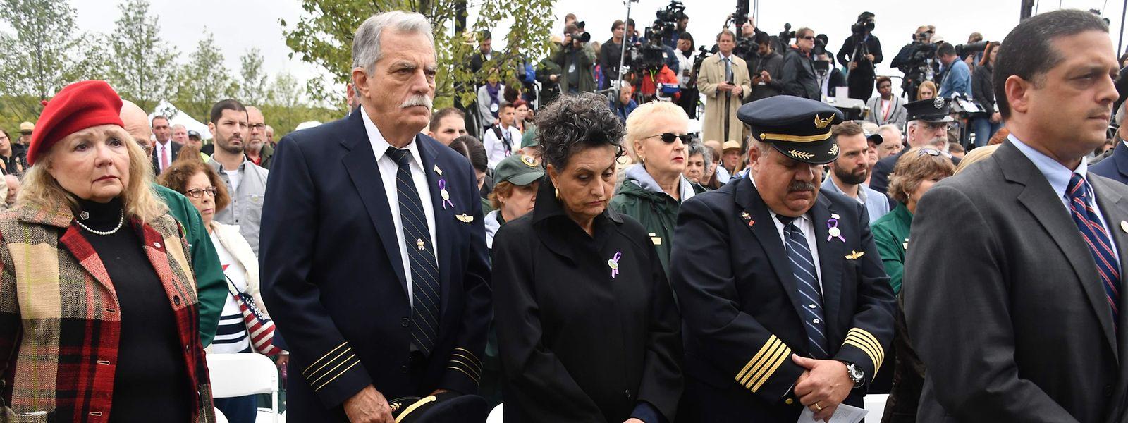 """In Shanksville, Pennsylvania gedachten die Menschen des Absturzes von """"Flight 93"""" - der Maschine, die es nicht zum Attentatsziel der Terroristen schaffte."""
