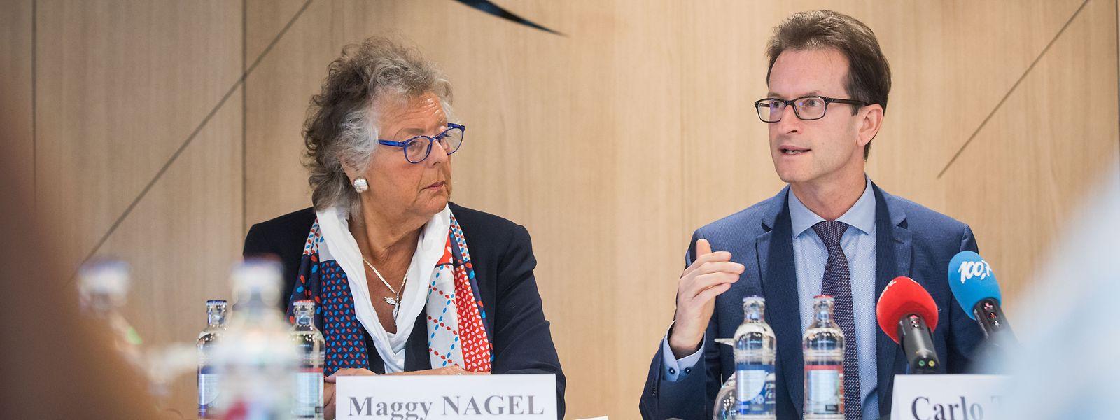 Maggy Nagel (à g.) et Carlo Thelen ont dévoilé lundi le programme économique du Luxembourg à l'Exposition universelle de Dubaï en 2020