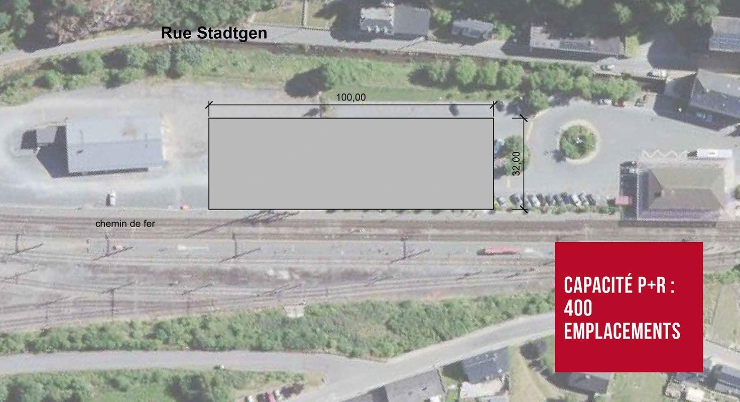 400 places de parking verront le jour à la gare de Troisvierges. Leur mise en service, pour 12,5 millions d'euros, est programmée pour 2022.
