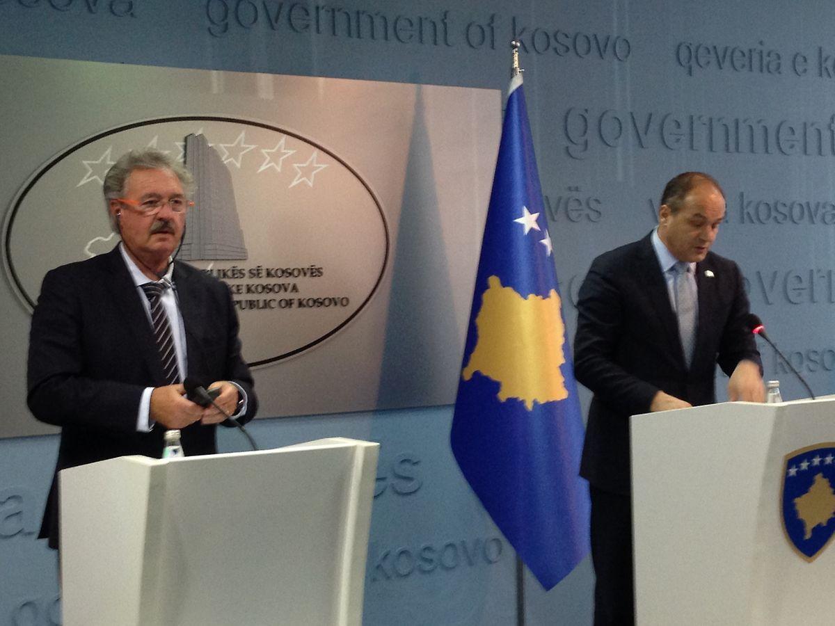 Außenminister  Jean Asselborn am Dienstag bei der gemeinsamen Pressekonferenz mit seinem kosovarischen Amtskollegen Enver Hoxhja.