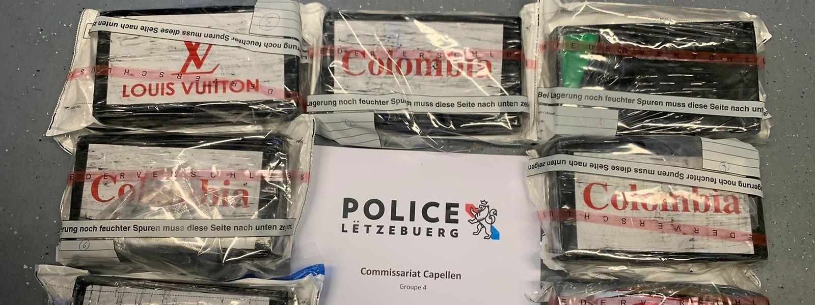 Louis Vuitton oder nur Colombia? Der Reinheitsgrad des beschlagnahmten Kokains war sehr unterschiedlich: Er lag zwischen 47,8 und 94,6 Prozent.