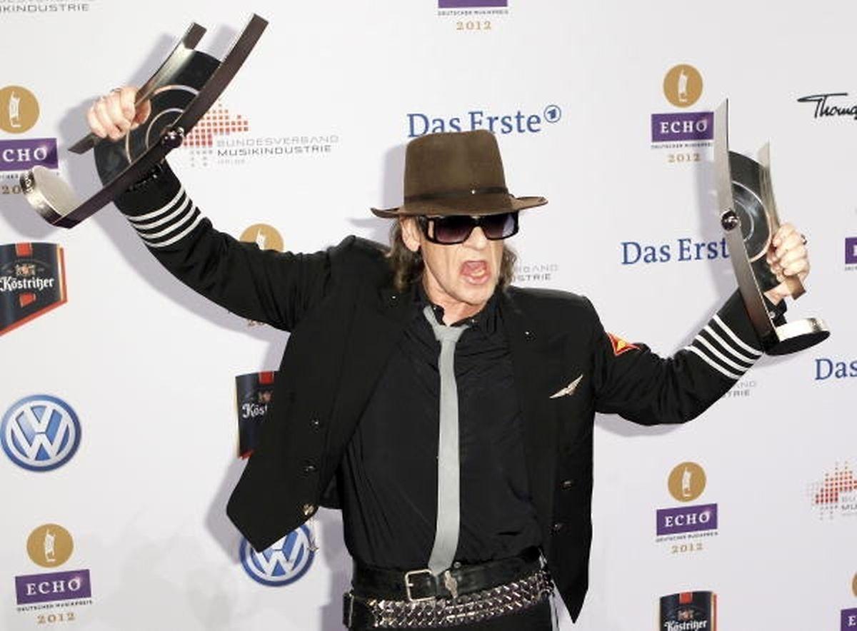 Udo Lindenberg bei den Echo Music Awards 2012 in Berlin.