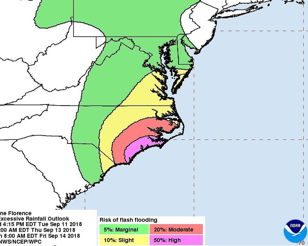 Die US-Behörde NOAA warnt vor schweren Überschwemmungen an der Küste und im Hinterland.