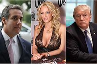 Michael Cohen (l.) hat ausgesagt, er habe im Auftrag des Präsidenten Schweigegeld an die Pornodarstellerin Stephanie Clifford alias Stormy Daniels gezahlt.