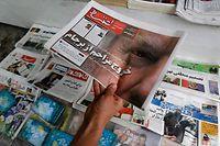Les journaux de Téhéran font la une ce 9 mai avec l'annonce de Trump de se retirer de l'accord sur le nucléaire.