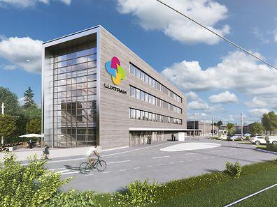 Der zukünftige Sitz der Gesellschaft Luxtram.