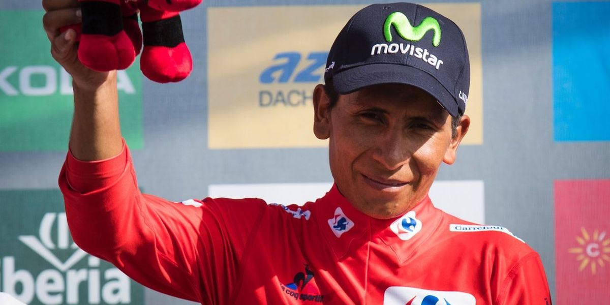 Nairo Quintana übernimmt das rote Trikot.
