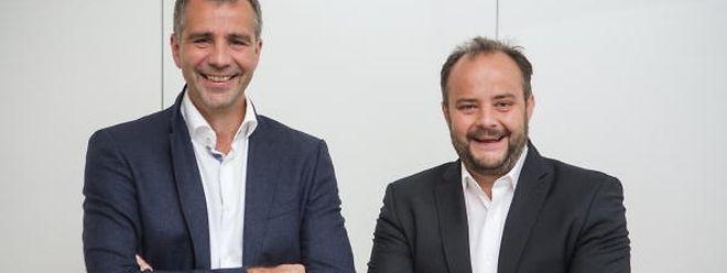 Pierrot und Carlo Feiereisen: der CSV Kandidat (links) hat die Mehrheit, der LSAP Kandidat rechts, die meisten Stimmen.